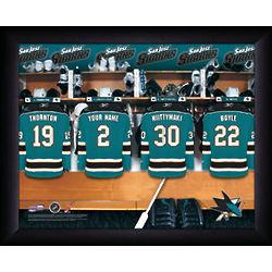 Personalized NHL San Jose Sharks Locker Room Print