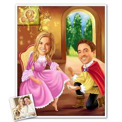 Cinderella Caricature Print