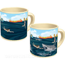 Shark! Heat Sensitive Mug
