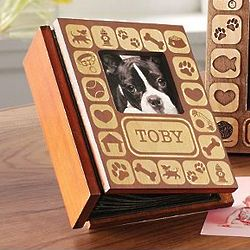 Personalized Pet Burn-Out Wood Album