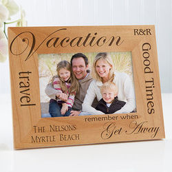 Personalized Vacation Picture Frame