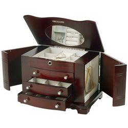 Elegant Mahogany Jewelry Box Chest