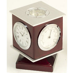 Cube Clock with Thermometer and Hygrometer