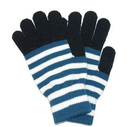 Striped Stretch Texting Gloves