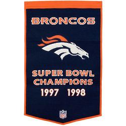 Denver Broncos Wool Dynasty Banner