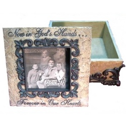 """Now in God's Hands"" Memory Box Photo Frame"