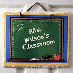 Personalized Teacher's Classroom Slate Plaque