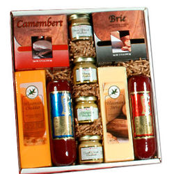 Holiday Party Cheese and Sausage Gift Box