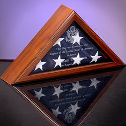 Personalized Ceremonial Flag Display Case