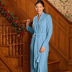 Cotton Cashmere Wrap Robe