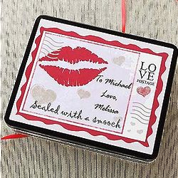 Personalized Sealed with a Kiss Tin