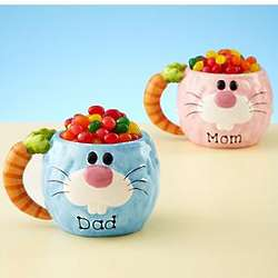 Personalized Bunny Mug With Jelly Beans