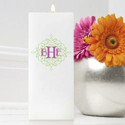 Personalized Square Wistful Monogram Friendship Candle