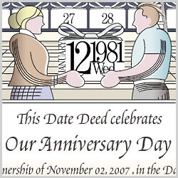 Dedicate a Day Personalized Anniversary Certificate