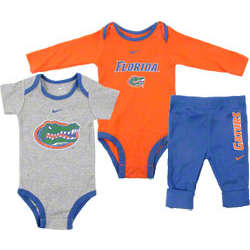 Florida Gators Infant Shorts and Long Sleeve Creeper Pants Set