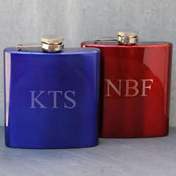 Personalized Metallic Flask for Groomsmen
