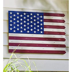 Fence Post American Flag Wall Art
