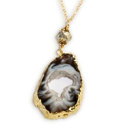Brazilian Geode Necklace