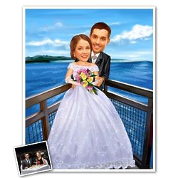 Marriage Caricature Print