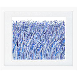 Security Blue Grass Framed Print