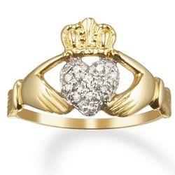 14 Karat Gold Diamond Friendship Clatter Ring