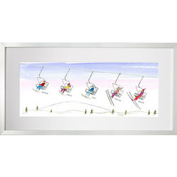 Personalized Family Ski Art Print