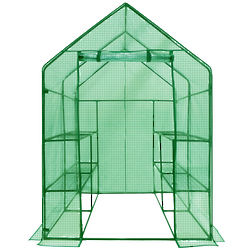 Deluxe Walk-In 2-Tier 8-Shelf Portable Lawn and Garden Greenhouse
