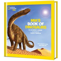Little Kid's Personalized Book of Dinosaurs