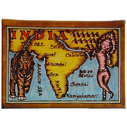 India Map Leather Photo Album in Color