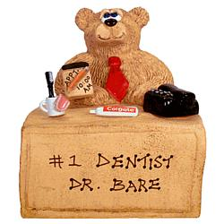 Personalized Bear Dentist or Orthodontist Figurine