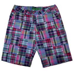 Ladies Truro Creek Madras Patchwork Bermuda Shorts