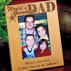 Personalized World's Greatest Dad Photo Frame