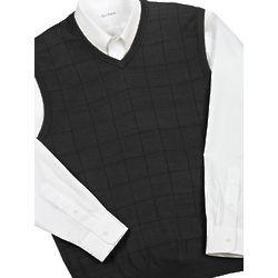 Spun Silk Pullover Vest