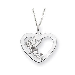Sterling Silver Tinkerbell Heart Pendant