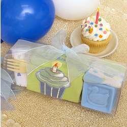 Boy's First Birthday Cupcake Gift Set