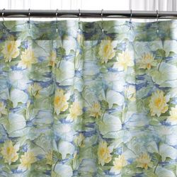 Cotton Lily Pad Shower Curtain