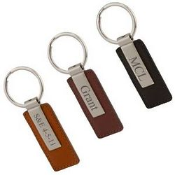 Personalized Modern Leather Key Chain