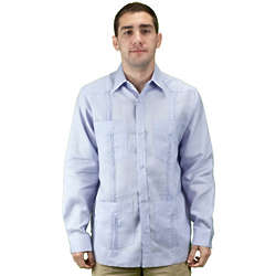 Lavender Guayabera Beach Wedding Shirt