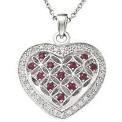 My Daughter Forever Dozen Rubies Necklace