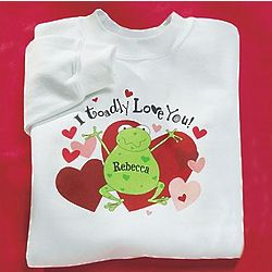 Personalized Toadly Love Youth Sweatshirt