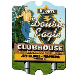 Marquee Double Eagle Personalized Vintage Golf Sign