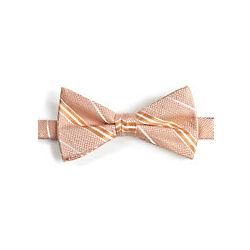 Striped Woven Silk Pre-Tied Bow Tie
