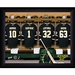 Personalized NHL Dallas Stars Locker Room Print