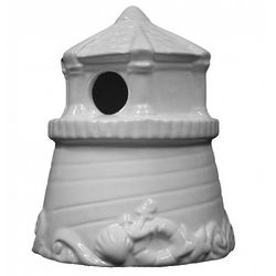 Ceramic Ready To Paint Lighthouse Birdhouse