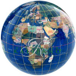 "4"" Caribbean Gemstone Globe Paperweight"