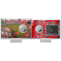 Boston Red Sox Fenway Park Silver Coin Card