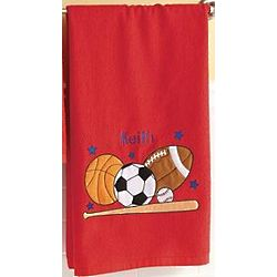 Personalized Applique Sports Hand Towel