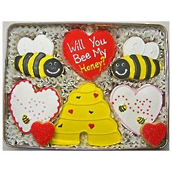 Valentine Honey Bee Sugar Cookie Gift Tin