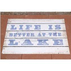 Personalized Life is Better at the Lake Doormat
