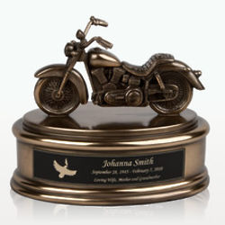 Personalized Small Motorcycle Cremation Urn